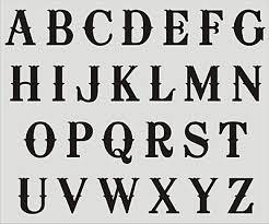 Stencil Letters Alphabet Stencils A Z Upper Case Letters Diy Craft Supplies