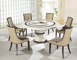 modern round wood dining table