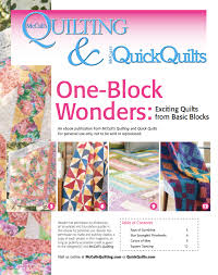 Free downloadable eBook of 4 one-block quilt patterns from ... & Free downloadable eBook of 4 one-block quilt patterns from McCall's Quilting . Adamdwight.com