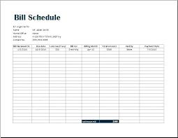 Bill Tracker Template Excel Bills Template Free Bill Management Template New Bill