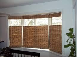 Bay Window with Bamboo Shades