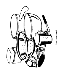 Small Picture Cooking Utensils Free Coloring Pages for Kids Printable