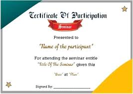 Samples Of Certificates Of Participation Participation Certificate Template 9 Wording Of Examples Whatapps Co