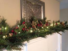Mantle Garland Lights Christmas Fireplace Garland Sintax Us