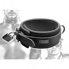 <b>TOM OF FINLAND</b> TOOLS - LEATHER COLLAR WITH <b>LOCK</b>