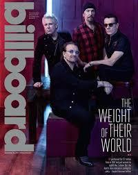 Billboard Movie Charts U2 Cover Of Billboard Magazine 2017 U2 In 2019 Music