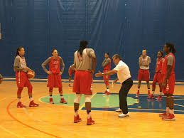 olympics photo essay from usa basketball practice head coach geno auriemma demonstrates a play during usa basketball practice at the msg training facility