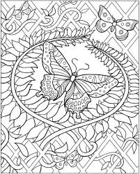 Small Picture Butterflies Coloring Pages For Adults Part 8 Free Resource For