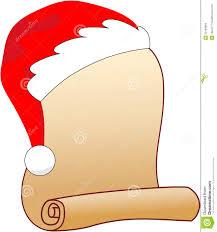 Blank Christmas List Parchment For Santa Claus Wish List Stock Vector