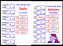 Daily Class Schedules - Robbinsdale Armstrong High School