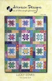 Slide Show By Atkinson Designs Atkinson Designs Pattern Atk 129 Lucky Stars Fat Quarter Quilt