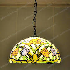 stained glass light fixture full image for vintage stained glass chandelier for free tulip