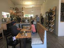 Lambert created the new coffee shop's wood accents. Blockhouse Coffee And Kitchen Richmond Photos Restaurant Reviews Order Online Food Delivery Tripadvisor