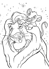 Lion King Coloring Page For Kids Disney Coloring Pages Printables