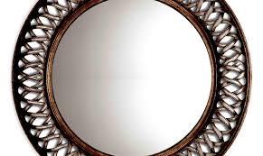 coast pebble rose antique metal surprising tiles decorative ornate gold finish pierre wall round mirror cir