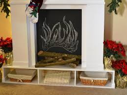 diy faux fireplace mantel easily