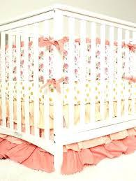 c peach and gold crib bedding baby girl set mint
