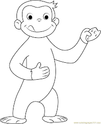 Small Picture Curious George Coloring Page Free Curious George Coloring Pages