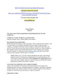 Busn 412 Week 8 Course Project Blue Bell Icecream
