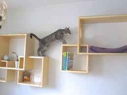 ... Ikea Modern Cat Tree Alternatives For Up To Date Pets White Colored  Wall Wooden Shelf Books Rack ...