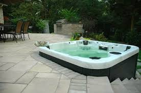 hot tub deck or hot tub patio gives a