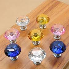 colorful crystal glass closet door knobs for drawer handles furnitures
