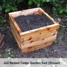 2 x3 cedar raised garden bed kit