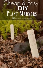 make your own plant markers for the garden or houseplants using materials you can easily find
