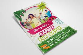 Fun Brochure Templates Family Fun Day Flyer Templates By Designhub Thehungryjpeg Com