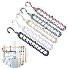 Windproof <b>Five</b>-<b>Hole Magic</b> Hanger <b>Multi-Function</b> Plastic Clothes ...
