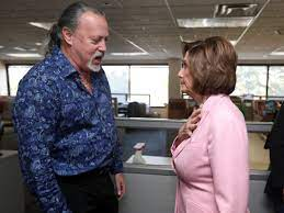 A touching moment with Nancy Pelosi ...