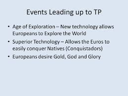 turning points thematic essay turning point protestant  6 events leading up to tp age of exploration
