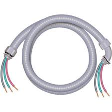 Southwire 3/4 in. x 6 ft. 8/2 Ultra-Whip Liquidtight Flexible Non-Metallic PVC Conduit Cable Whip