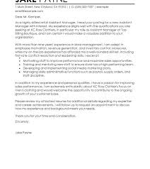 Cover Letter Examples For Assistant Manager Assistant Bar Manager