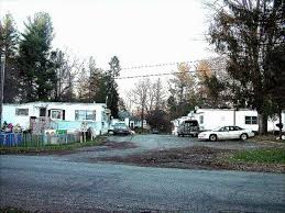 entrance to mobile home park