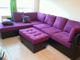 Love this purple sectional sofa!