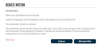 guide to writing debatabase debates idebate org debatabase guide 1