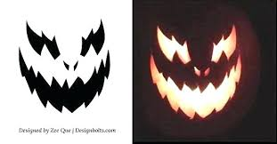 Free Printable Pumpkin Carving Patterns Fascinating Scary Pumpkin Carving Patterns Free Printable Stencil S Free Scary