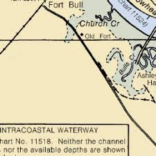 Map And Nautical Charts Of Limehouse Bridge Sc Us Harbors