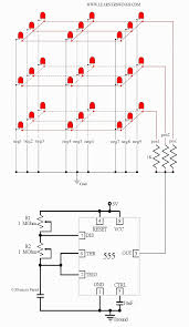led cube wiring diagram led image wiring diagram animated circuit of a low cost 3 3 3 led cube using 555 timer ic on