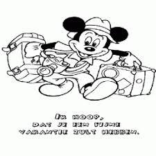 Kleurplaat Mickey Mouse Gaat Op Vakantie Kleurplaatarchiefnl