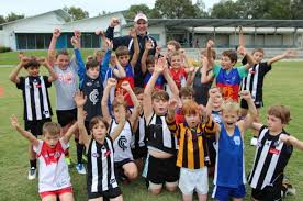 Image result for kids at a footy clinic having fun