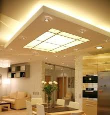 hidden lighting. Gorgeous Kitchen Lighting Ideas, Ceiling Design With Contemporary Hidden LED Fixtures R