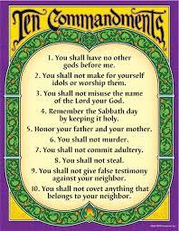 10 Commandments Chart Trend Enterprises Ten Commandments Learning Chart 10