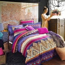 purple bohemian bedding