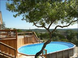 square above ground pool with deck. Plain With AboveGround Pool In The Hills Of San Antonio With Square Above Ground Deck E