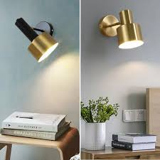 bedroom wall lamp home gold wall sconce