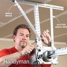 hang the opener with angle iron