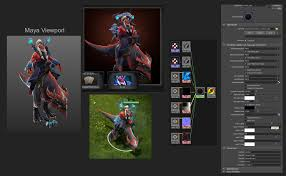 dota2 hero shader 3ds shader material released polycount