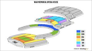 Act San Francisco Seating Chart San Francisco War Memorial Opera House Seating Chart